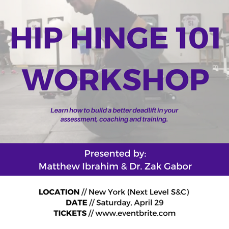 Hip Hinge Workshop